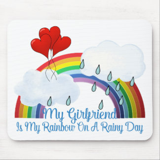 Boyfriend Is My Rainbow Mouse Pad