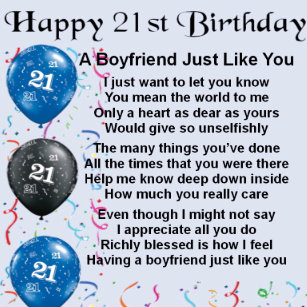 Boyfriends 21st Birthday Gifts On Zazzle CA