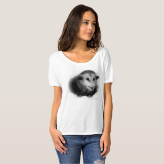 Boyfriend shirt with fuzzy possum