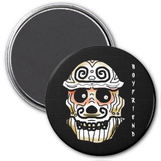 BOYFRIEND SKULL by Slipperywindow 3 Inch Round Magnet