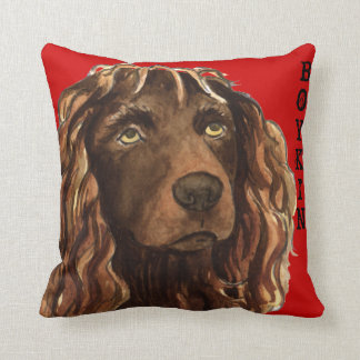 Boykin Spaniel Color Block Throw Pillow