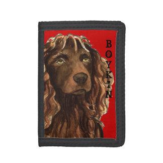 Boykin Spaniel Color Block Tri-fold Wallets