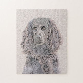 Boykin Spaniel Painting - Cute Original Dog Art Jigsaw Puzzle