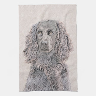 Boykin Spaniel Painting - Cute Original Dog Art Kitchen Towel