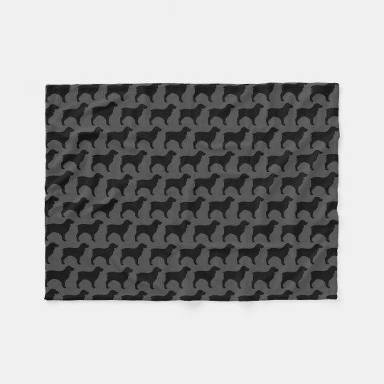 Boykin Spaniel Silhouettes Pattern Fleece Blanket
