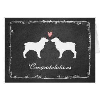 Boykin Spaniel Silhouettes Wedding Congratulations Card