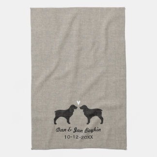 Boykin Spaniel Silhouettes with Heart Towel