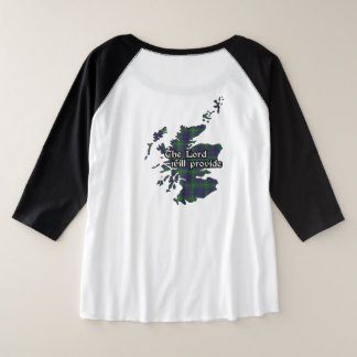 Boyle Clan Badge and Tartan Women's Plus Size Raglan T-Shirt