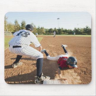 Boys (10-11) playing baseball mousepads