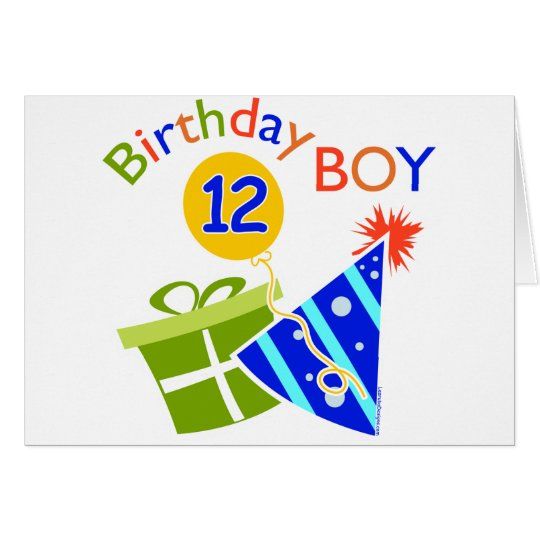 Boys 12th Birthday Card