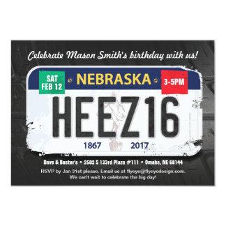 Boy's 16th Birthday Nebraska Invitation