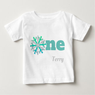 Boy's 1st Birthday Snowflake Shirt