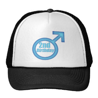 Boys 2nd Birthday Gifts Trucker Hat