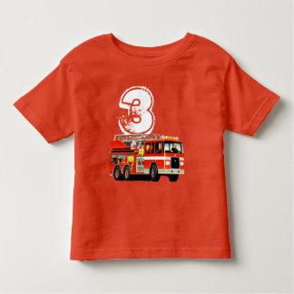 Boy's 3rd Birthday Red Fire Truck Toddler T-shirt