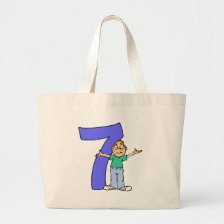 Boys 7th Birthday Gifts Jumbo Tote Bag