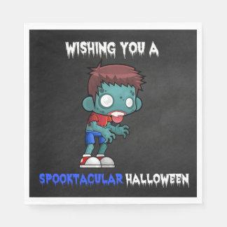 Boys and Ghouls Boy Zombie Spooktacular Halloween Napkin