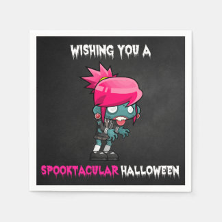 Boys and Ghouls Boy Zombie Spooktacular Halloween Paper Napkin
