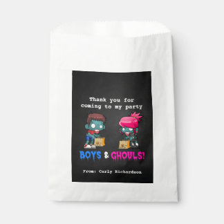 Boys and Ghouls Zombie Halloween Party Favour Bag