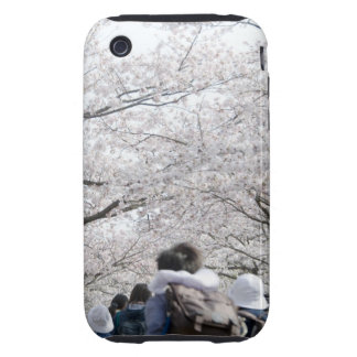 Boys and girls under cherry blossoms iPhone 3 tough cover