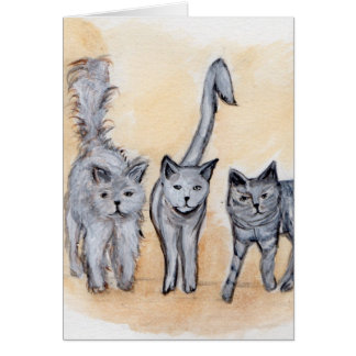 Boys are back in town greeting card