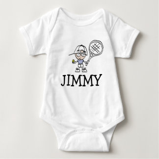 Boys baby bodysuit with cute tennis cartoon
