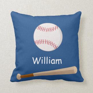 Boys Baseball & Bat Custom Pillow Gift