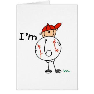 Boy's Baseball I'm 6 Tshirts and Gifts Card