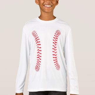 Boys Baseball Stitches Long-Sleeve T-shirt