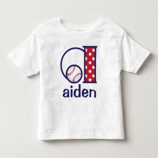 Boys Baseball T-shirt Baseball monogram a