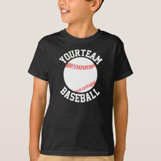 Boys Baseball Team, Player & Jersey Number Shirt