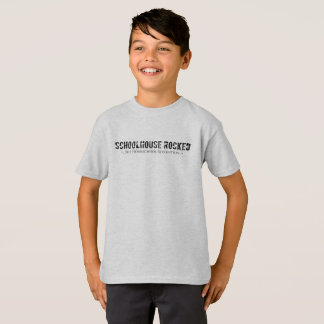 Boy's Basic T-Shirt (Black Print, Front Only)