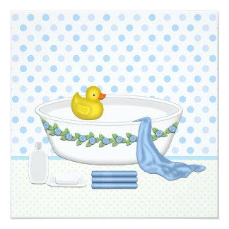 Boys Bath Time Baby Shower Card