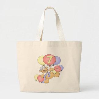 Boys Bear 7th Birthday Gifts Canvas Bag