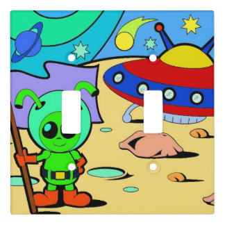 Boys Bedroom Light Switch Cover Alien Space Ship