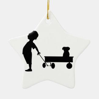 Boy's Best Friend Ceramic Ornament