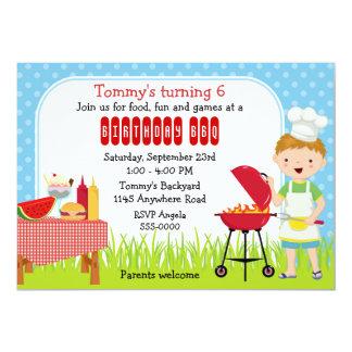 Boys Birthday BBQ Card