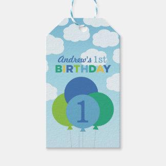 Boy's Birthday Favor Tags | Balloons Design