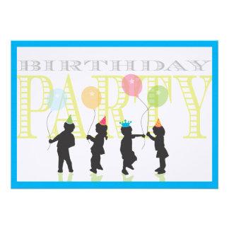 Boys Birthday Invitation - Blue
