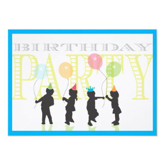 Boys Birthday Invitation - Blue