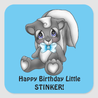 Boys Birthday little stinker sticker