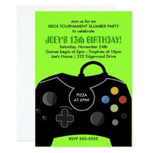 Video Game Party Invitations Announcements Zazzle CA