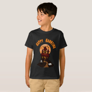 Boy's Black Happy Haunting Halloween Tshirt