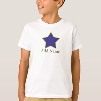 Boys Blue and Yellow Customizable Star T Shirt