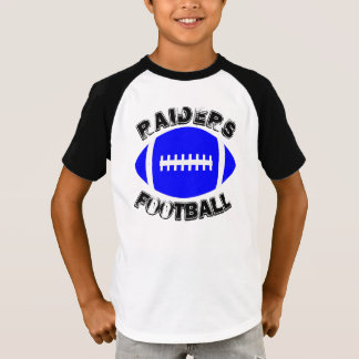 Boys Blue Football Short Sleeve Raglan Shirt