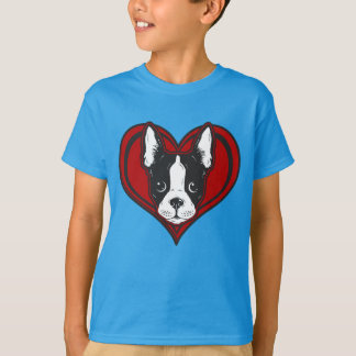 Boy's Boston Terrier Heart Shirt