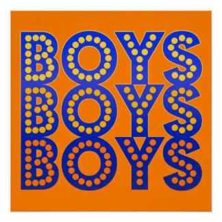 Boys Boys Boys Perfect Poster