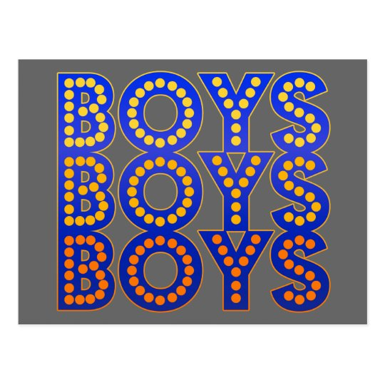 Boys Boys Boys Postcard
