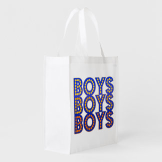 Boys Boys Boys Reusable Grocery Bag