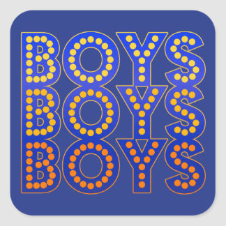 Boys Boys Boys Square Sticker