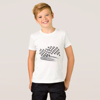 Boys Caution Car's Racing Tee